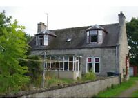 3/4 bedroom Farm House near Rothiemay, Huntly. Available now. £600 per month.