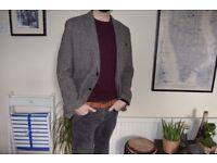 Men's Premium Wool Donegal Tweed Blazer / Jacket - Size L / Large / 44R - Excellent cond. RRP £225 -