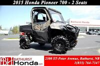 2015 Honda Pioneer 700 Mag Wheel! Bimini Roof! Fabric Doors Camo