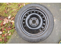 Winter Tyres Uniroyal 185 55 15 tyres on GM/Vauxhall steel wheels 4 x 100 V'hall, Rover etc.