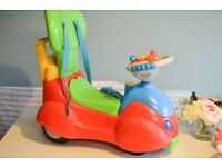Mothercare sit and ride baby car with steering wheel and sounds