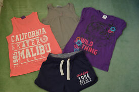 Girls Tops and shorts 8-9 years