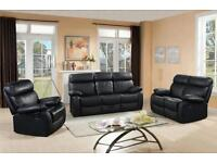 VENICE 3+2 LEATHER RECLINER SOFA SUITE, CUPHOLDERS AND STORAGE, FROM ONLY £275 FREE DELIVERY