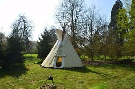 High Quality Flame Retardant Canvas Tipi | Tepee | Teepee Tent - Canvas Only - Used