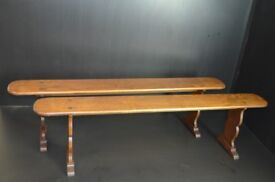 antique solid wood benches