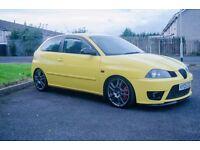 seat ibiza cupra 230bhp (civic typeR, vxr, turbo, track car, leon, bora, golf, gti, clio, fr)