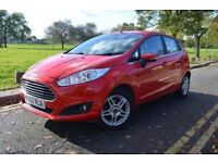 2014 FORD FIESTA 1.6 ZETEC POWERSHIFT,3M WARRANTY,PARKNG SENSRS,AUTO,RED,12 MNTHS MOT,ALLOYS,HPI CLR