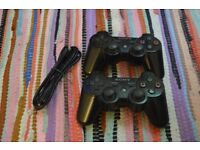 Sony Black Wireless PS3 Controllers