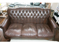 Used Thomas Lloyd Leather Chesterfield Sofa (2 seather and 3 seater)