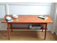 Stylish Vintage Midcentury Danish two-tier teak coffee table. Delivery. Modern / retro.