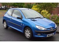 Peugeot 206 ZEST 1.1 l blue perfect little car long MOT low genuine mileage