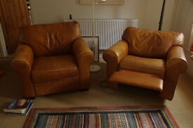 Leather armchairs/recliner