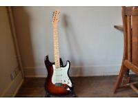 2016 Fender American Elite Stratocaster, 3 Tone Sunburst, Maple Neck.