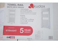 Kudox white towel warmer white 450x1000mm