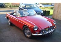 MGB 1964 Roadster showroom condition, a beauty.