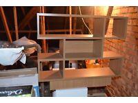 oak coffee table 3 shelfs