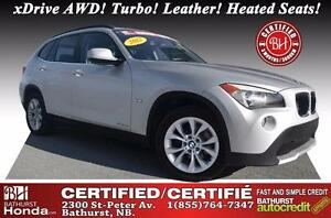 2012 BMW X1 28i Certified! xDrive AWD! Turbocharged Engine! Le