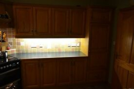 Fitted wooden kitchen for sale including all electrical appliances