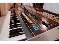 Roland Jupiter 8 Vintage Synth with MD-8 Midi and flight case