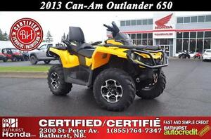 2013 Can-Am Outlander 650 Max Low Mileage!
