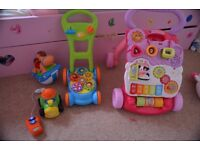 Baby walkers and toys set - practically NEW