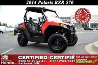 2014 Polaris RZR 570 EFI Two Seats! Hard Top! Cargo Bed!