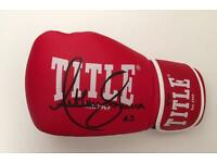 Anthony Joshua signed boxing glove