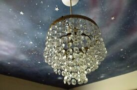 A vintage pretty crystal chandelier