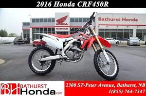 2016 Honda CRF450 R Even more competitive than you are!
