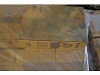 30X45 BEIGE CERAMIC SLATE-EFFECT WALL FLOOR TILES 12M2