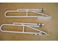 DISABILITY HINGED SUPPORT/GRAB RAILS FOR BATHROOM TOILET