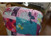 John Lewis single duvet cover and two pillow cases