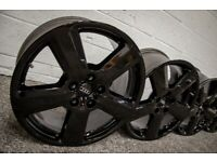 """*Refurbished* Genuine 18"""" Audi A4/A6 S-Line 'RS6 Style' Alloy Wheels 5x112 Gloss Black"""