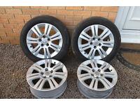 "4 x 16"" Vauxhall Zafira alloys"