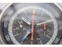 Omega Flightmaster manual wind mechanical chronograph wristwatch - Swiss - '69-'77 - ST145-036- C911