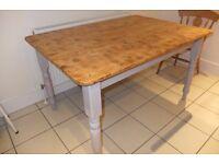 Old Farmhouse Dinning Table 137cm x 95.5cm £225/offers
