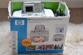 HP Photosmart A433 Camera + Printer Dock Station For Spares Camera Body Chipped