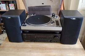 Hi-Fi Seperates Kenwood KR-V7050 Amp 100W, With Acoustic Solutions Turntable, B&W DM601 S2 Speakers