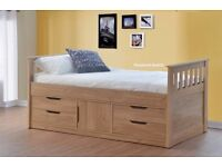Single Bed with build in storage (Captain's bed)