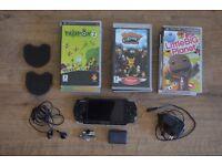 PSP-3000 + Camera + headphone + 9 Games in original packaging