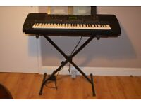 Yamaha PSR5700 professional keyboard with stand, pedal and padded bag