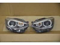 Pair of Right hand drive UK model RL Xenon headlights BMW F20 F21 2012 - 2016 RHD COMPLETE