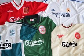 Liverpool Football Club and Real Madrid Jerseys and Scarves