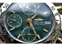 Sector Golden eagle automatic mechanical chronograph wristwatch-Swiss '90s- New old stock - Val 7750
