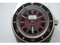 Tillett of Norwich automatic mechanical diver's wristwatch - '70s - Swiss - Vintage