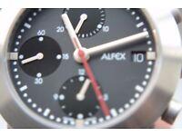 Alfex automatic mechanical chronograph wristwatch - Valjoux 7750 - NOS - Swiss Model 5333