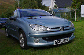 Peugeot 206 Coupe, 2006, Petrol 1.6, Very good condition, leather seats, FSH, 66K miles