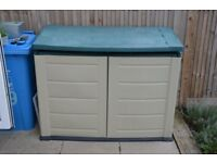 Large Plastic Garden Storage Box Shed will disassemble very easy to reassemble