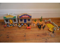 Playmobil Bundle - Sheriff & Bank Buildings with Lots of Figures and Accessories