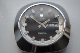 Nivada Duranium automatic mechanical wristwatch - Swiss New old stock - '70s- Winegartens